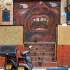 Graffiti on shutter of store, Florentin, Tel Aviv, Israel