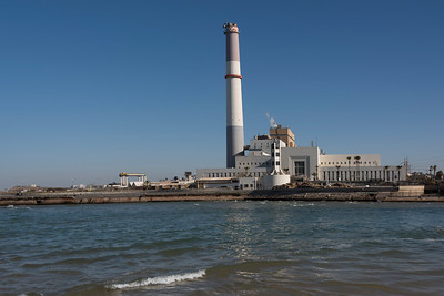 View of power station, Reading Power Station, Yarkon River, Tel Aviv, Israel