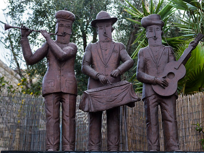 Metal sculptures of musicians, Ein Hod Artists' Village, Ein Hod, Haifa District, Israel