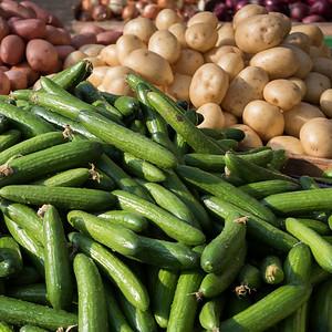 Vegetable for sale at market, Haifa, Haifa District, Israel