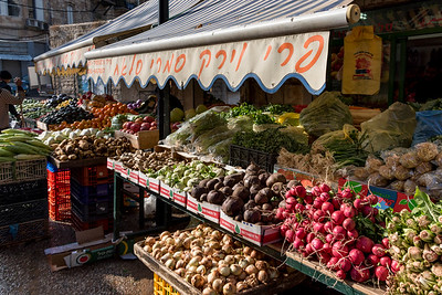 Fruits and vegetable for sale at market, Haifa, Haifa District, Israel