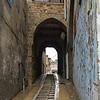 Steps at narrow street, Acre, Israel