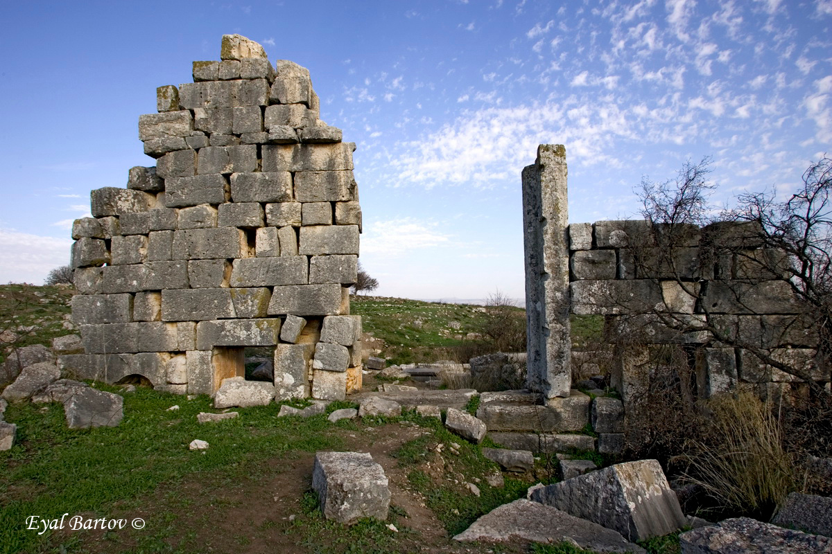 The ruins of the ancient Canaanite village of Kedesh