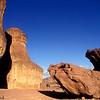 Timna Valley - Sandstone cliffs in Timna Valley featuring King Solomon's Pillars. עמודי שלמה  , מכתש תמנע