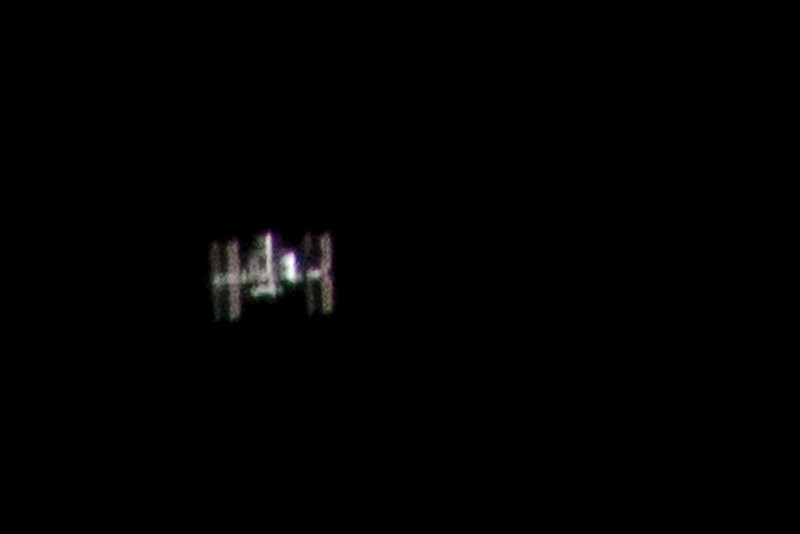 International Space Station seen over Los Angeles