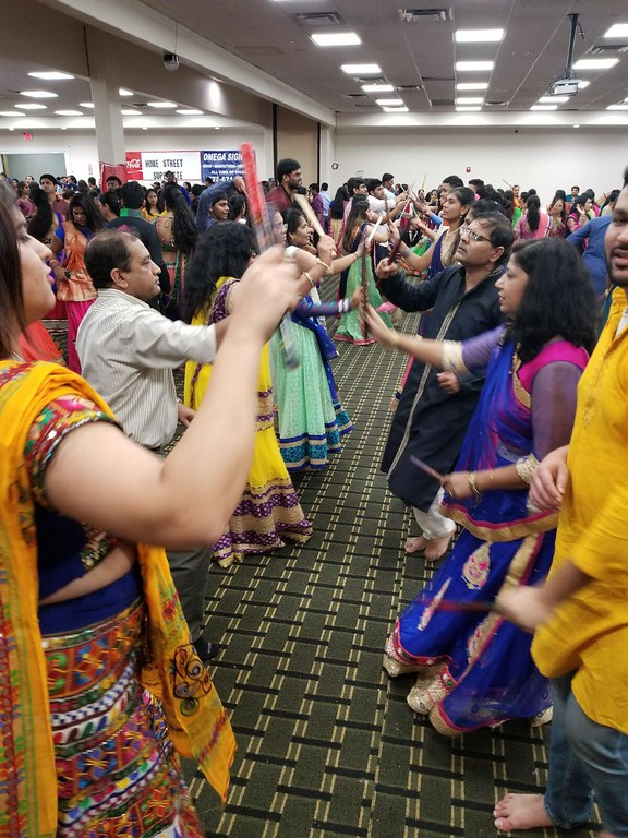. Raas - a traditional Indian dance enjoyed by all.