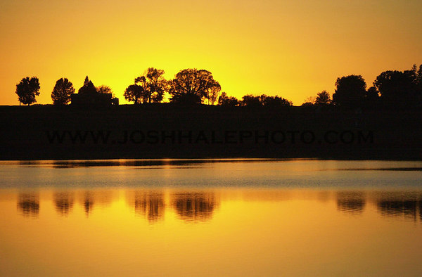 Josh Hale/Iowa State Daily<br /> Halletts Quarry off of North Grand Ave. during sunset on Tuesday evening.   (09-25-01)