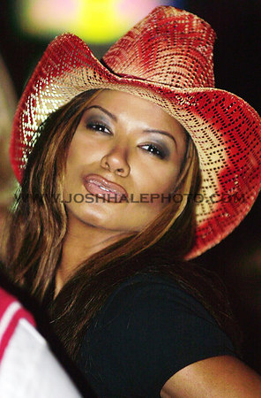 Josh Hale/Iowa State Daily<br /> Actress Traci Bingham during the Playboy Party on Tuesday evening in Peoples Bar held for the Nadas that were featured in the latest issue.  (8-28-01)