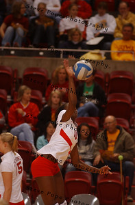 Iowa State against Oklahoma volleyball at Hilton in Ames, Iowa.