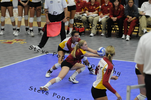 Iowa State volleyball against Texas Tech, 2010