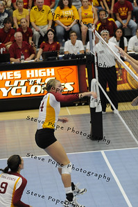 Iowa State Volleyball against Nebraska Volleyball, 2010.