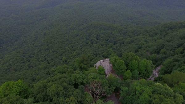 Aerial of Caesars Head State Park in South Carolina