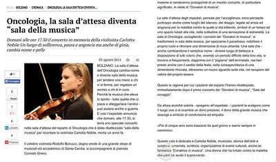 Carlotta Nobile, Sala della Musica, BOLZANO