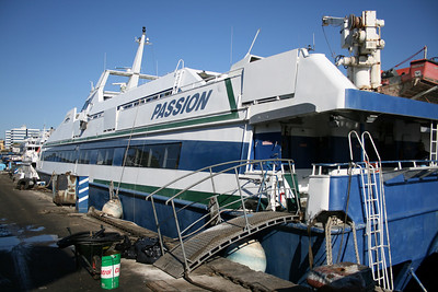 2008 - PASSION at shipyard in Napoli, before being renamed ANGELINA LAURO JET.