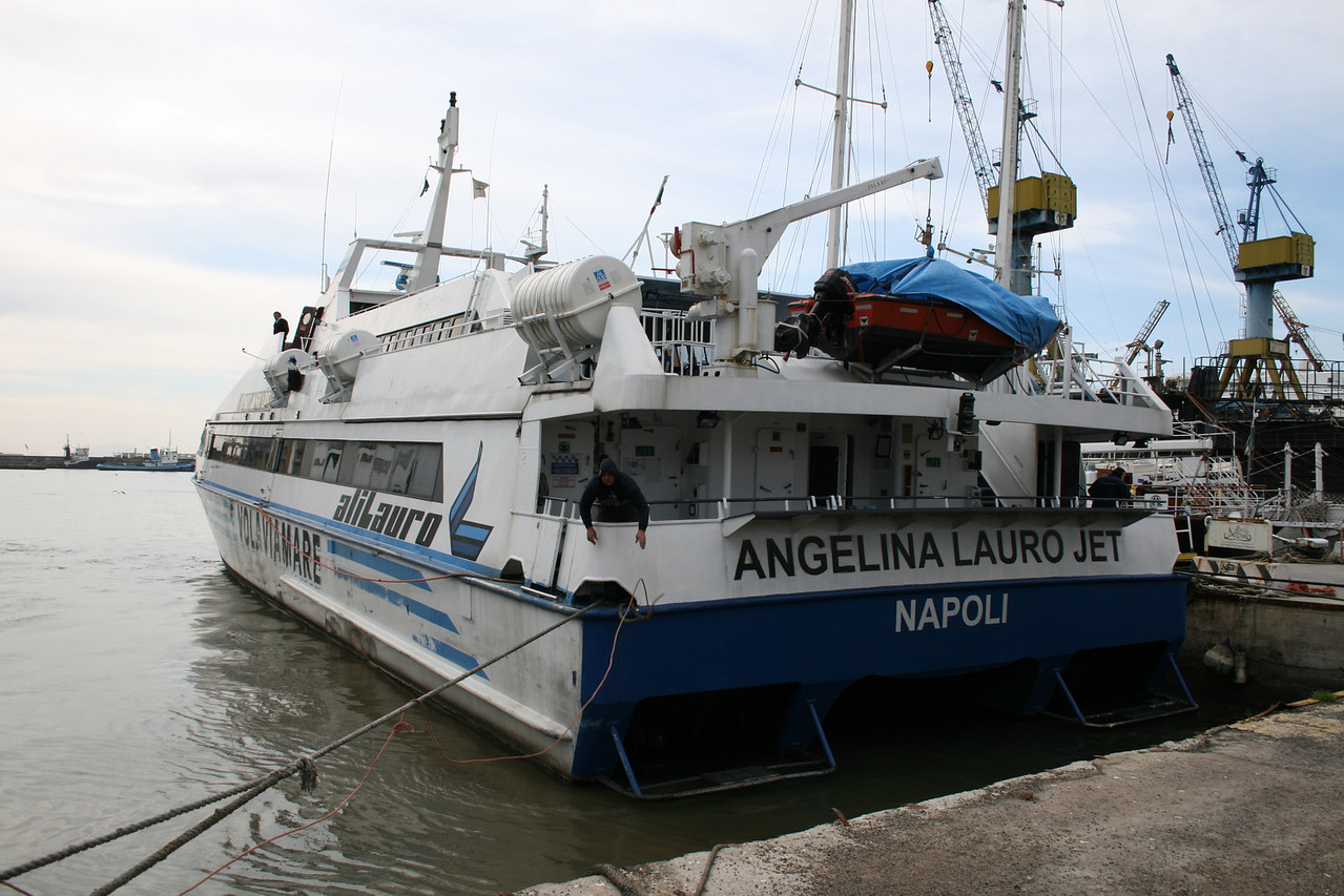 2011 - HSC ANGELINA LAURO JET laid up in Napoli.