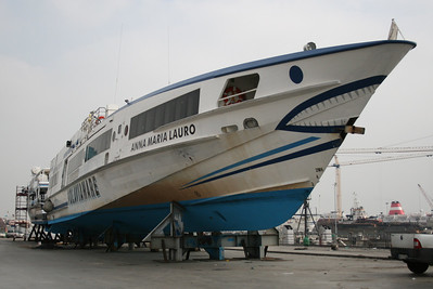 HSC ANNA MARIA LAURO in dry dock.