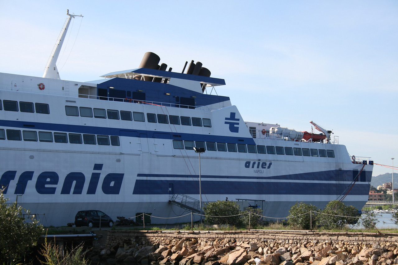 2008 - HSC ARIES laid up in Olbia.