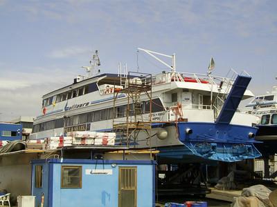 CITTA' DI FORIO in dry dock in Napoli.
