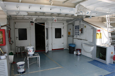 2011 - A view on board HSC DON PAOLO in dry dock in Napoli while completing refurbishment after the change of name and owner.
