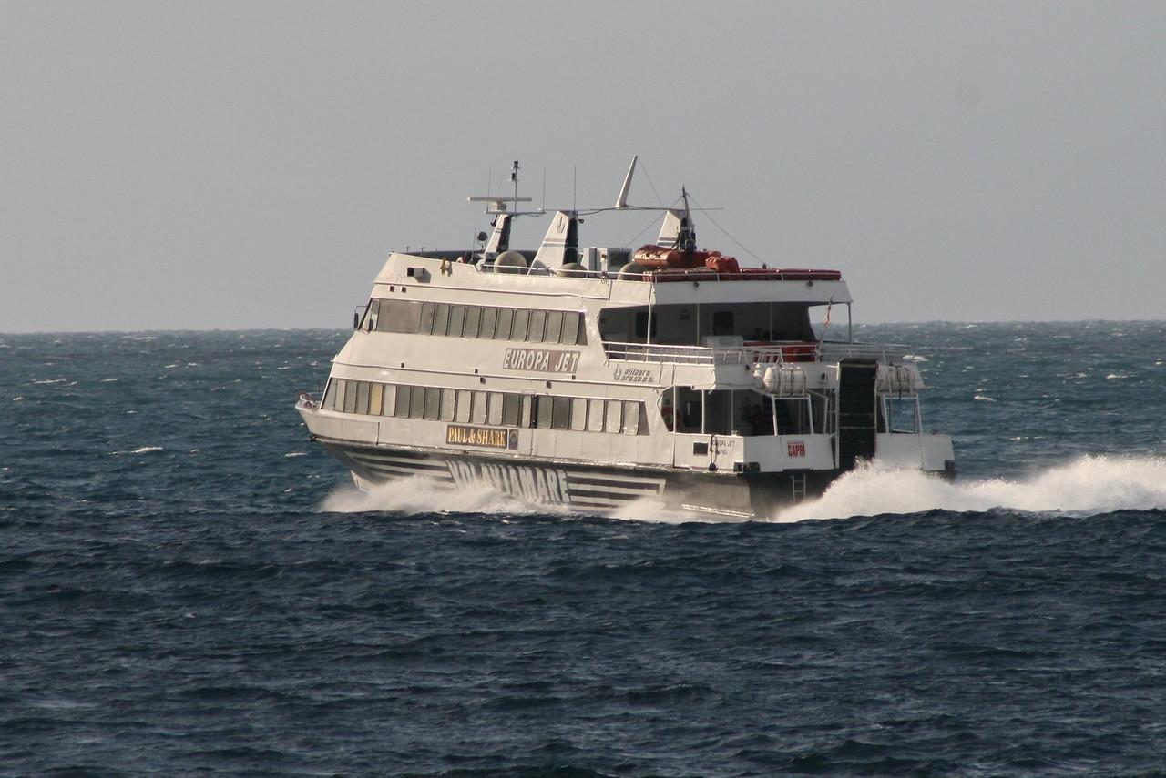 EUROPA JET at sea.