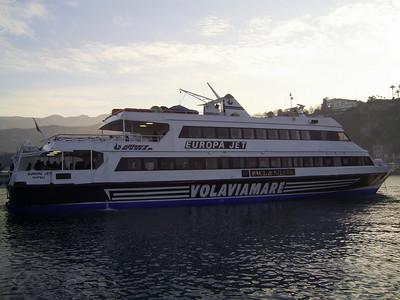 EUROPA JET moored in Sorrento.
