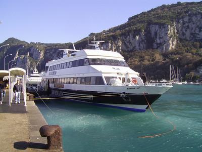 EUROPA JET moored in Capri.
