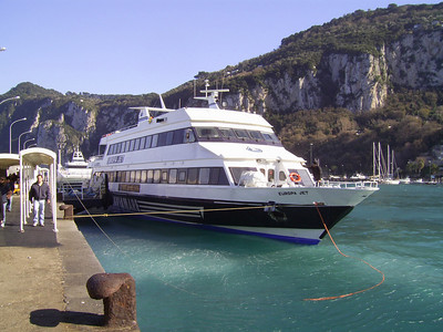 EUROPA JET moored in Capri.
