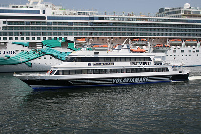 EUROPA JET arriving to Napoli. At side NORWEGIAN JADE.