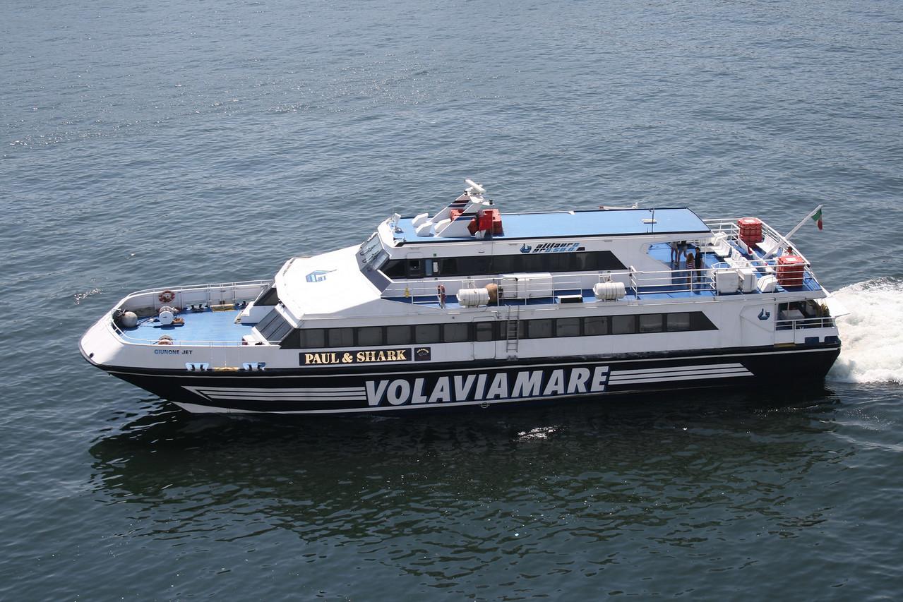 2009 - GIUNONE JET departing from Napoli.