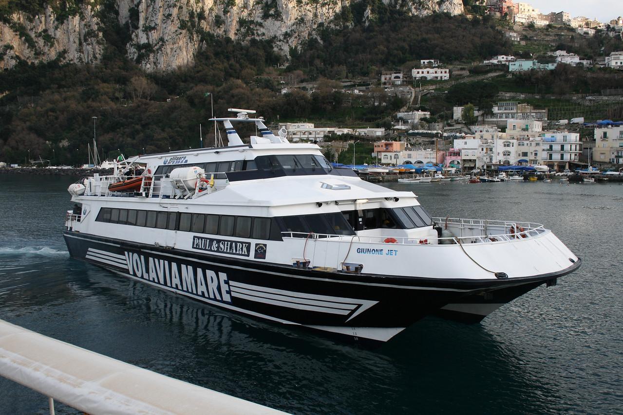 GIUNONE JET arriving to Capri.