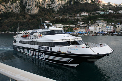GIUNONE JET arriving to Capri.