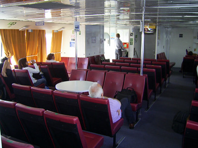 2010 - On board ISCHIA JET : upper deck, inside.
