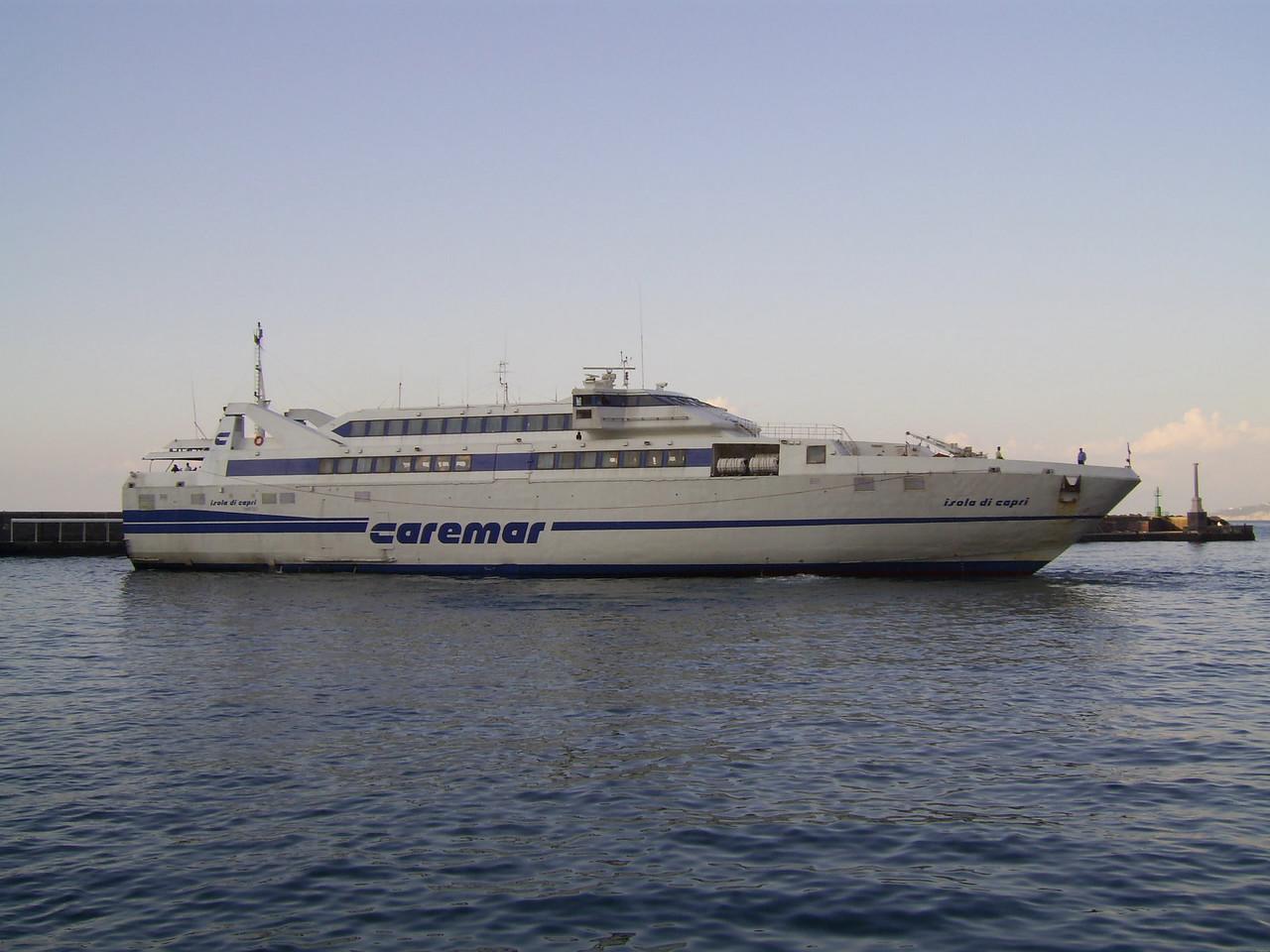 2007 - HSC ISOLA DI CAPRI arriving to Capri.