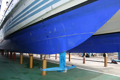 2008 - HSC MARIA SOLE LAURO in dry dock in Napoli : the fin.