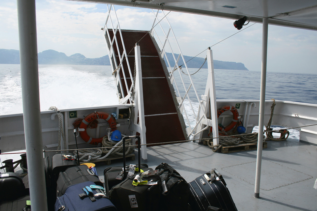 2008 - On board NAPOLI JET : stern area.