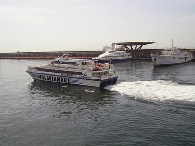 2007 - NETTUNO JET departing from Napoli. At pier HSC SNAV ALCIONE and F/B PATRIZIA.