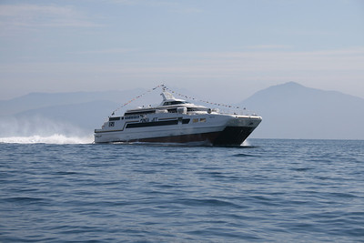 2011 - HSC PONZA JET sailing from Napoli to Capri.