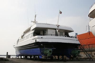 2008 - DSC SNAV ALCIONE in dry dock in Napoli.