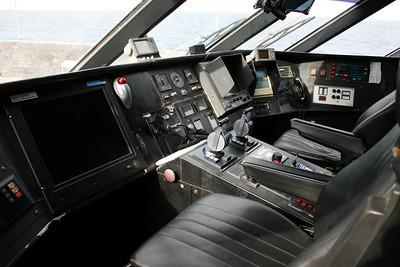 2011 - On board DSC SNAV ALCIONE : the bridge, commander's place.