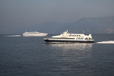 2010 - SNAV ANTARES and ISOLA DI CAPRI in the gulf of Naples.