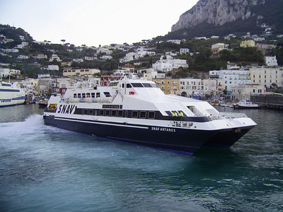 2007 - SNAV ANTARES maneuvering in Capri.