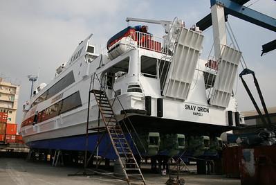 2008 - HSC SNAV ORION in dry dock in Napoli.