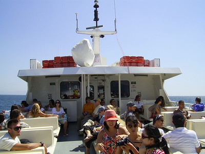 2007 - Passengers on board M/S SORRENTO JET from Capri to Napoli.