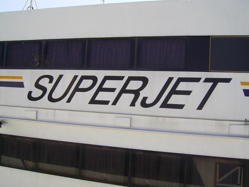 2007 - HSC SUPERJET : the name on starboard side.