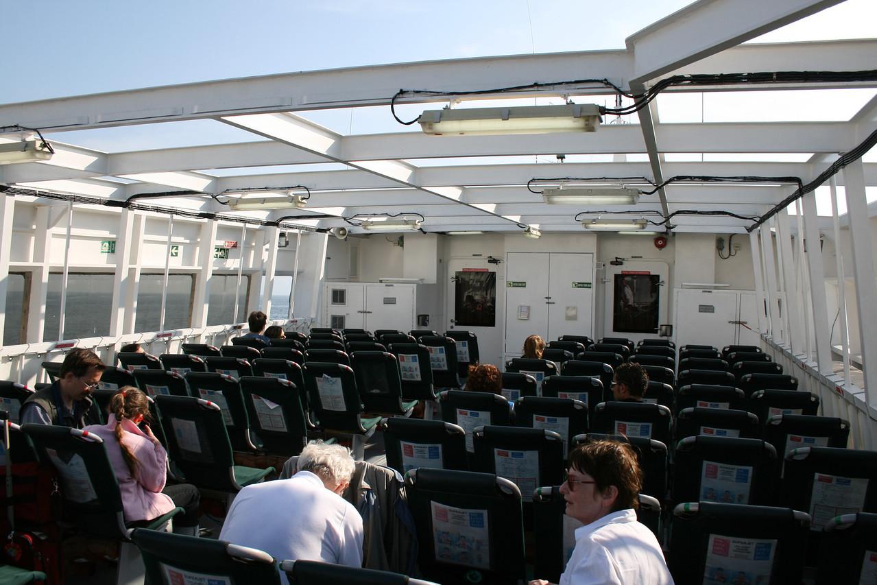 2008 - On board HSC SUPERJET : upper deck.