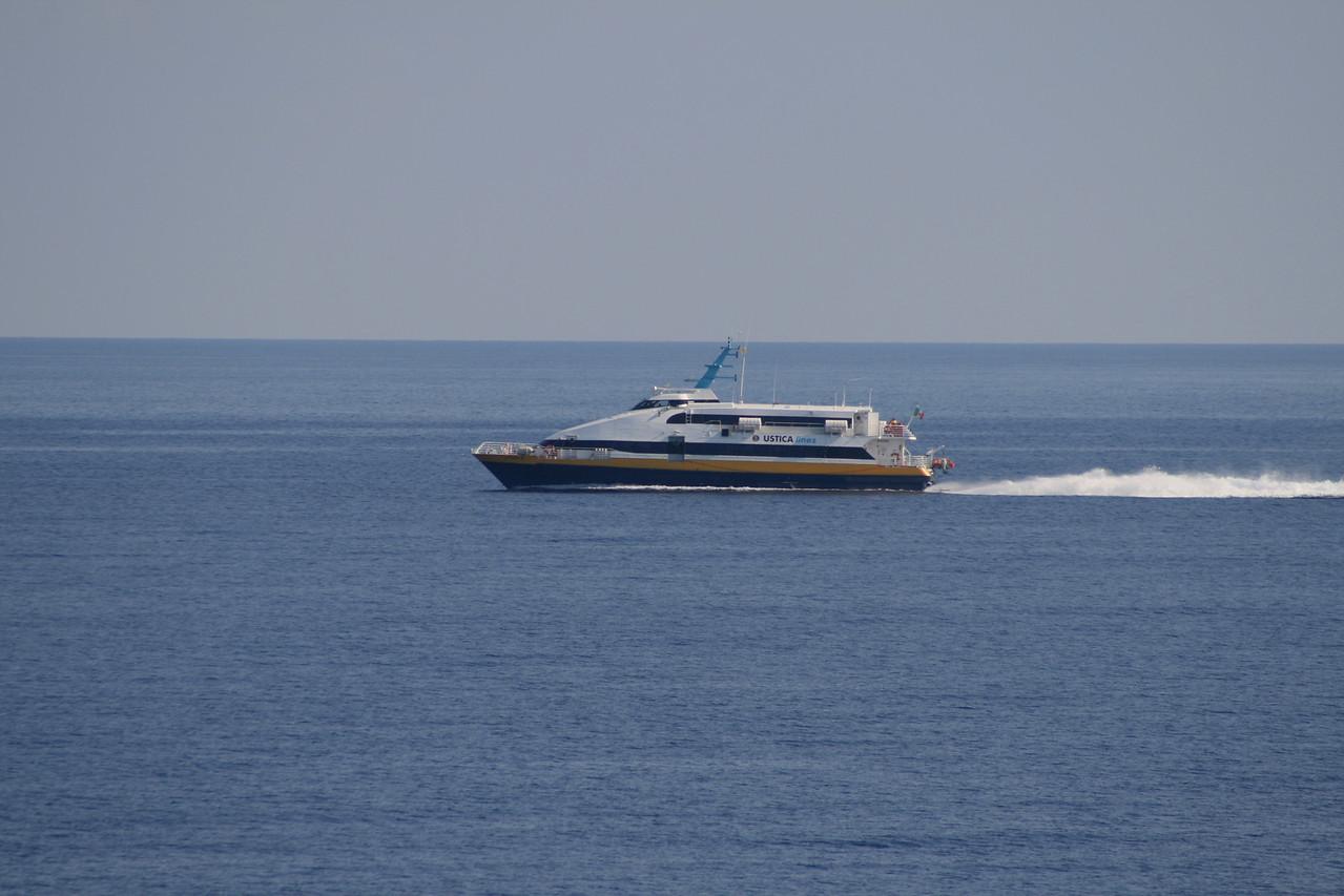 2009 - HSC VITTORIA M sailing to Filicudi in Eolian Islands.