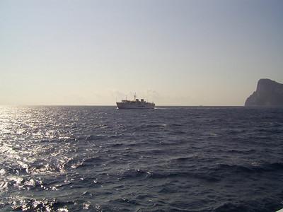 2007 - F/B ADEONA sailing from Capri to Napoli.