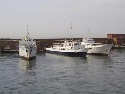 2007 - F/B PATRIZIA, ALA and SANTA LUCIA L laid up in Napoli.