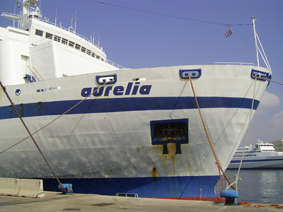 2009 - F/B AURELIA moored in Napoli.