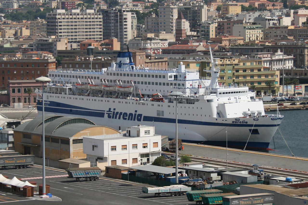 2010 - F/B AURELIA moored in Cagliari.